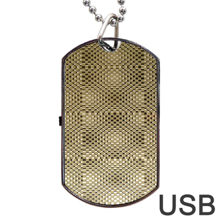 Fashion Style Glass Pattern Dog Tag USB Flash (One Side)