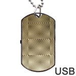 Fashion Style Glass Pattern Dog Tag USB Flash (Two Sides)  Front
