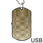 Fashion Style Glass Pattern Dog Tag USB Flash (Two Sides)  Back