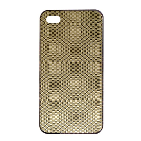 Fashion Style Glass Pattern Apple iPhone 4/4s Seamless Case (Black)