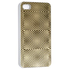 Fashion Style Glass Pattern Apple iPhone 4/4s Seamless Case (White)
