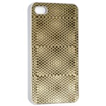 Fashion Style Glass Pattern Apple iPhone 4/4s Seamless Case (White) Front