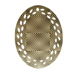 Fashion Style Glass Pattern Oval Filigree Ornament (2-Side)  Front