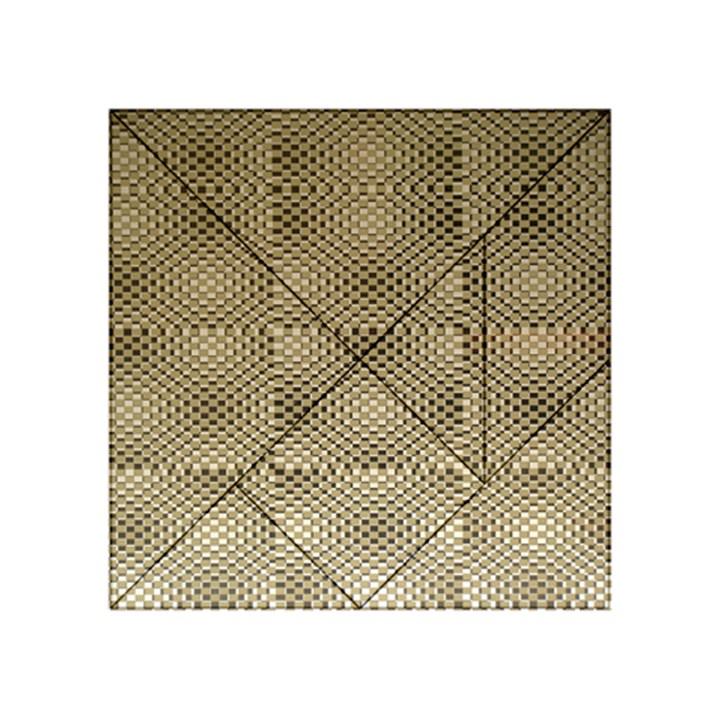 Fashion Style Glass Pattern Acrylic Tangram Puzzle (4  x 4 )