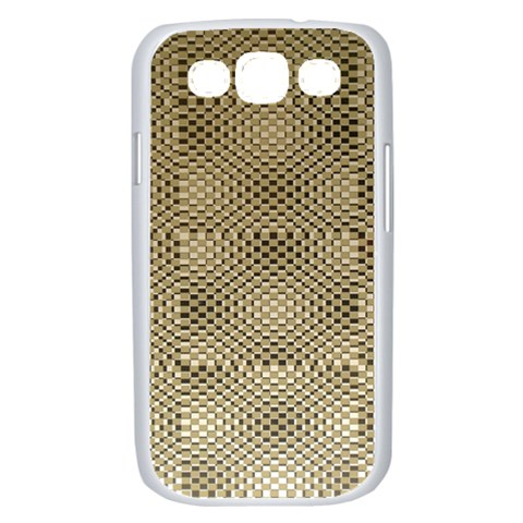 Fashion Style Glass Pattern Samsung Galaxy S III Case (White)