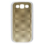 Fashion Style Glass Pattern Samsung Galaxy S III Case (White) Front