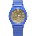 Fashion Style Glass Pattern Round Plastic Sport Watch (S) Front