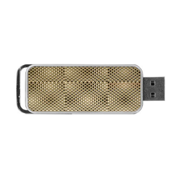 Fashion Style Glass Pattern Portable USB Flash (One Side)