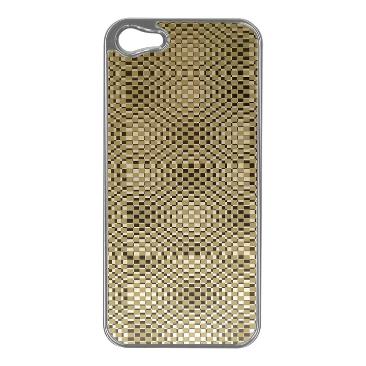 Fashion Style Glass Pattern Apple iPhone 5 Case (Silver)