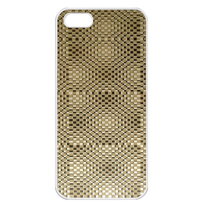 Fashion Style Glass Pattern Apple iPhone 5 Seamless Case (White)