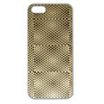 Fashion Style Glass Pattern Apple Seamless iPhone 5 Case (Clear) Front