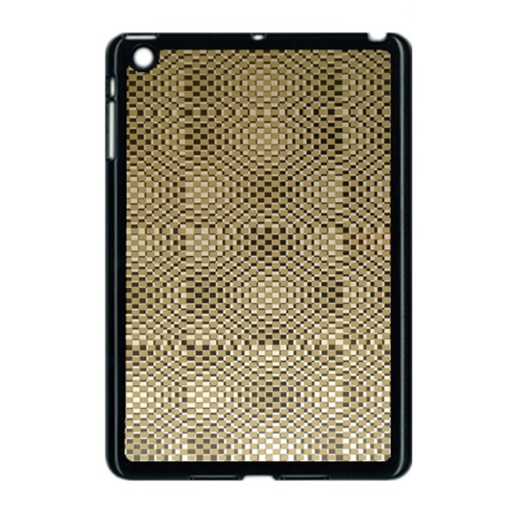 Fashion Style Glass Pattern Apple iPad Mini Case (Black)