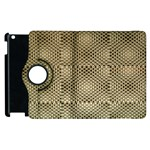 Fashion Style Glass Pattern Apple iPad 2 Flip 360 Case Front
