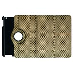 Fashion Style Glass Pattern Apple iPad 3/4 Flip 360 Case Front