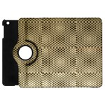 Fashion Style Glass Pattern Apple iPad Mini Flip 360 Case Front