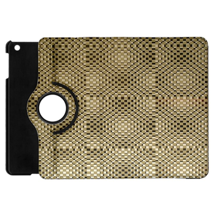 Fashion Style Glass Pattern Apple iPad Mini Flip 360 Case