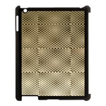 Fashion Style Glass Pattern Apple iPad 3/4 Case (Black) Front