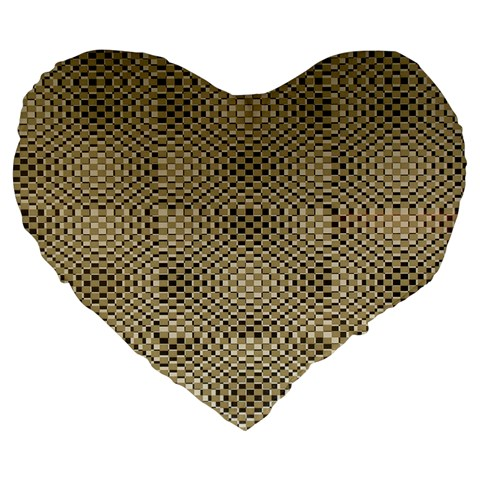 Fashion Style Glass Pattern Large 19  Premium Heart Shape Cushions