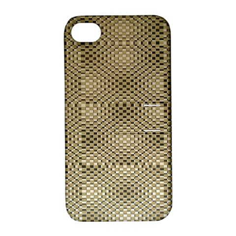 Fashion Style Glass Pattern Apple iPhone 4/4S Hardshell Case with Stand