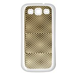Fashion Style Glass Pattern Samsung Galaxy S3 Back Case (White) Front