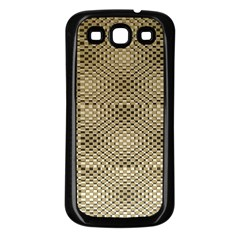 Fashion Style Glass Pattern Samsung Galaxy S3 Back Case (Black)