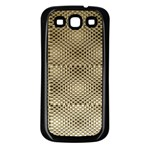 Fashion Style Glass Pattern Samsung Galaxy S3 Back Case (Black) Front