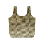Fashion Style Glass Pattern Full Print Recycle Bags (S)  Back
