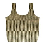 Fashion Style Glass Pattern Full Print Recycle Bags (L)  Front