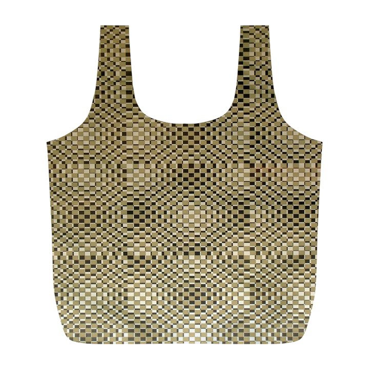 Fashion Style Glass Pattern Full Print Recycle Bags (L)