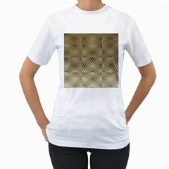 Fashion Style Glass Pattern Women s T-Shirt (White)