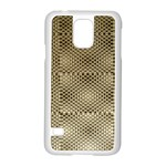 Fashion Style Glass Pattern Samsung Galaxy S5 Case (White) Front