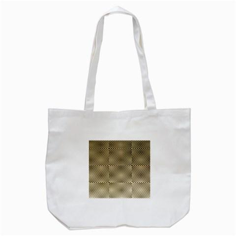 Fashion Style Glass Pattern Tote Bag (White)