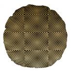 Fashion Style Glass Pattern Large 18  Premium Flano Round Cushions Back