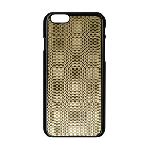 Fashion Style Glass Pattern Apple iPhone 6/6S Black Enamel Case