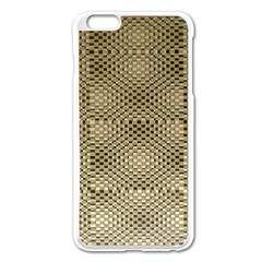 Fashion Style Glass Pattern Apple iPhone 6 Plus/6S Plus Enamel White Case