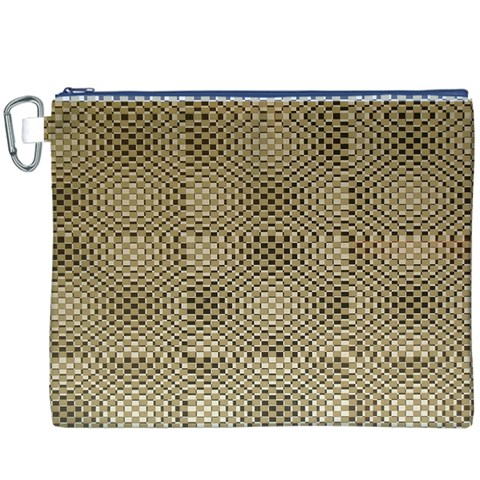 Fashion Style Glass Pattern Canvas Cosmetic Bag (XXXL)
