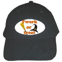 Twerk Or Treat   Funny Halloween Design Black Cap