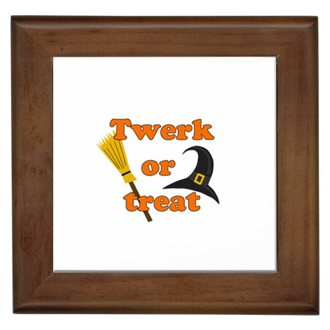 Twerk or treat - Funny Halloween design Framed Tiles