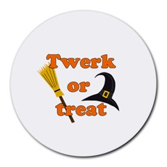 Twerk Or Treat   Funny Halloween Design Round Mousepads