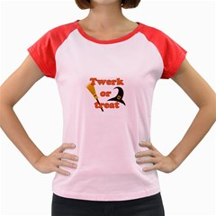 Twerk Or Treat   Funny Halloween Design Women s Cap Sleeve T Shirt