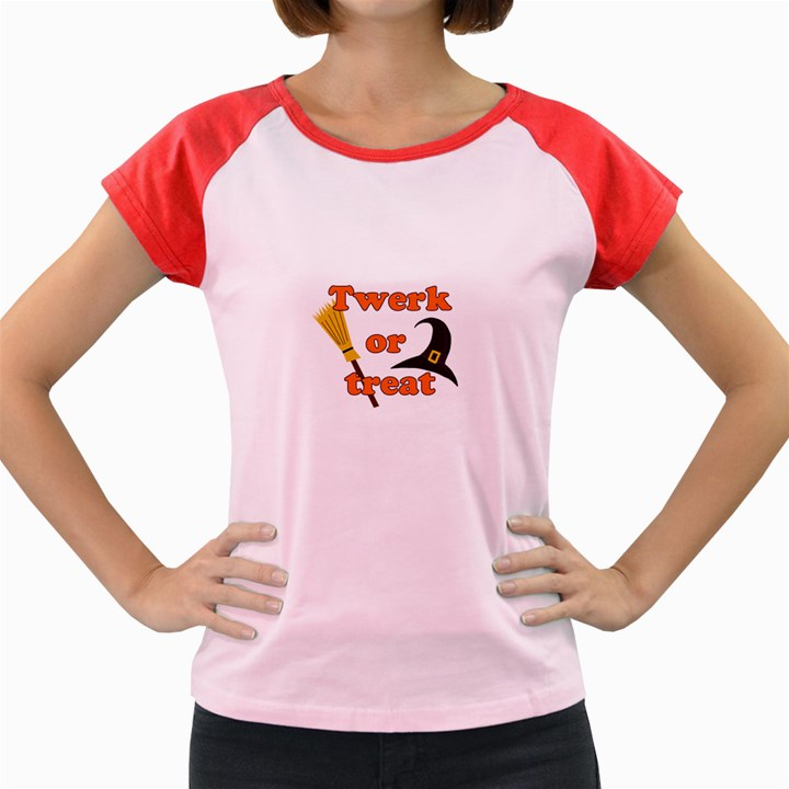 Twerk or treat - Funny Halloween design Women s Cap Sleeve T-Shirt