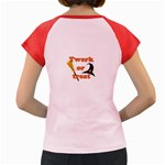 Twerk or treat - Funny Halloween design Women s Cap Sleeve T-Shirt Back