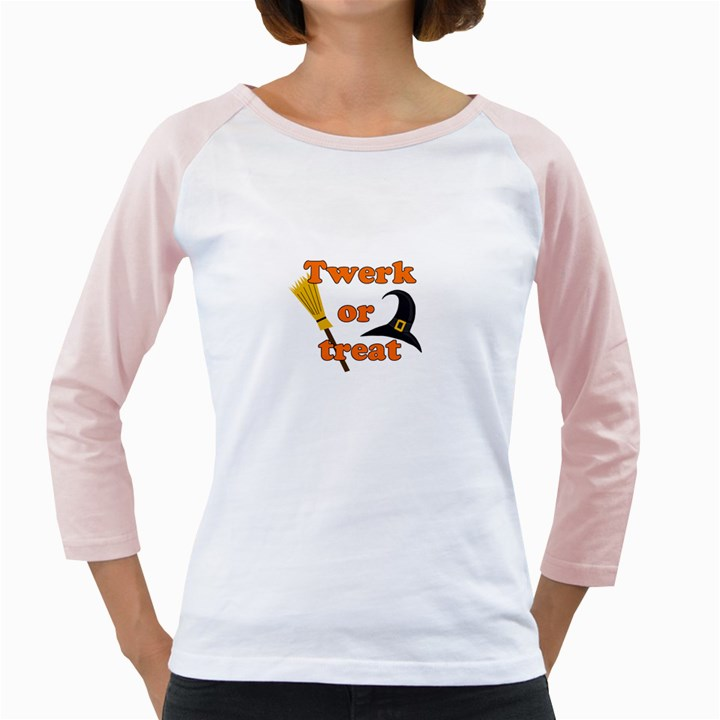 Twerk or treat - Funny Halloween design Girly Raglans