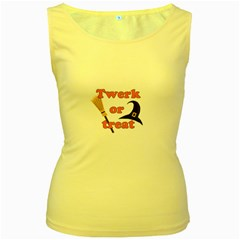 Twerk or treat - Funny Halloween design Women s Yellow Tank Top