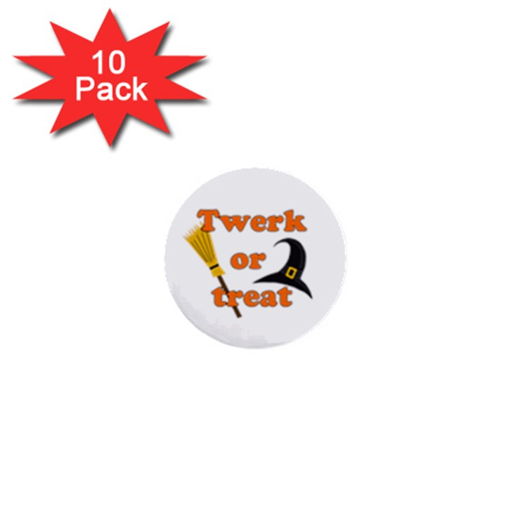 Twerk or treat - Funny Halloween design 1  Mini Buttons (10 pack)