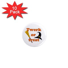 Twerk Or Treat   Funny Halloween Design 1  Mini Magnet (10 Pack)