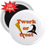 Twerk or treat - Funny Halloween design 3  Magnets (100 pack) Front