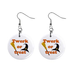 Twerk or treat - Funny Halloween design Mini Button Earrings