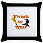 Twerk or treat - Funny Halloween design Throw Pillow Case (Black) Front