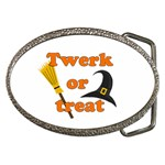 Twerk or treat - Funny Halloween design Belt Buckles Front